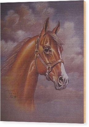 Chestnut Quarter Horse Wood Print by Dorothy Coatsworth