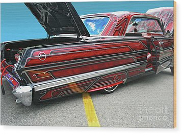 Wood Print featuring the photograph Chev Impala 1 by Bill Thomson