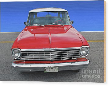 Wood Print featuring the photograph Chev Wagon by Bill Thomson