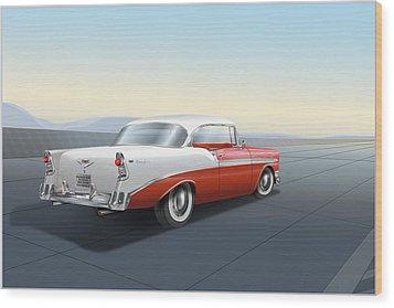 Chevrolet Bel Air Wood Print