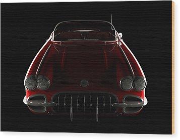 Chevrolet Corvette C1 - Front View Wood Print