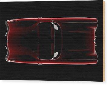 Chevrolet Corvette C1 - Top View Wood Print