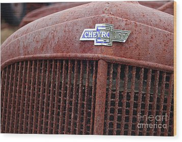 Chevrolet Emblem Wood Print
