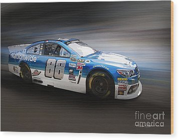 Chevrolet Ss Nascar Wood Print by Roger Lighterness