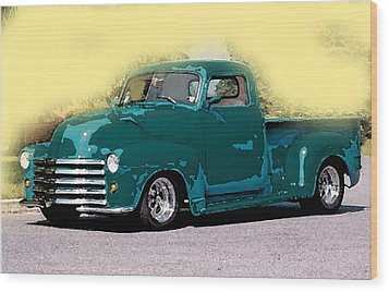 Chevy Azure Wood Print