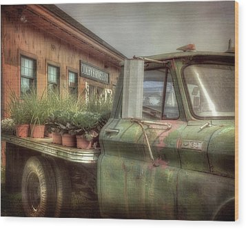 Wood Print featuring the photograph Chevy C 30 Pickup Truck - Colby Farm by Joann Vitali
