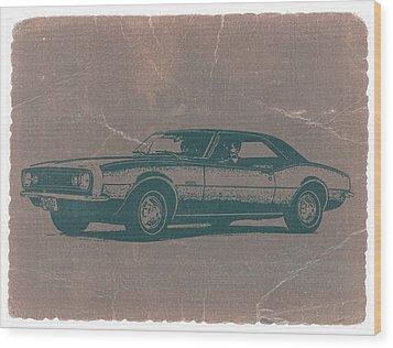 Chevy Camaro Wood Print by Naxart Studio