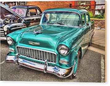 Chevy Cruising 55 Wood Print