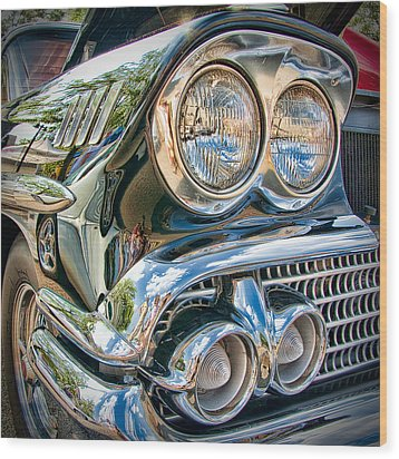 Chevy Impala 1958 Wood Print by Andreas Freund