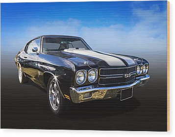 Chevy Muscle Wood Print by Keith Hawley