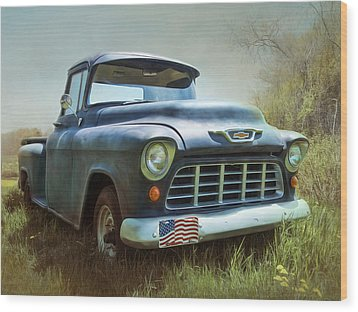 Wood Print featuring the photograph Chevy Truck by Robin-Lee Vieira