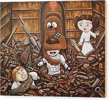 Chewie Get Off My Me You Big Furry Oaf Wood Print by Al  Molina