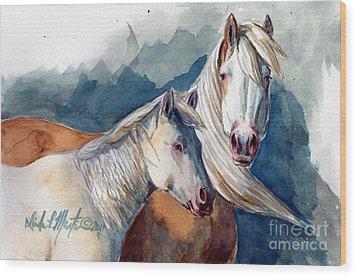Cheyenne And Tripod Wood Print by Linda L Martin