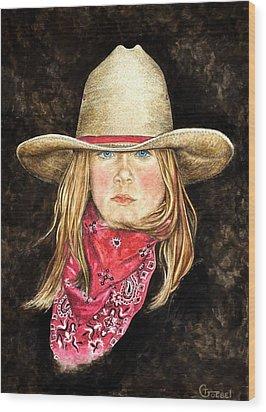 Cheyenne Wood Print by Traci Goebel