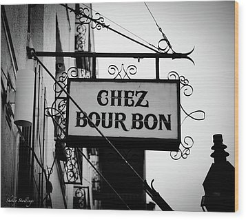 Chez Bourbon  Wood Print