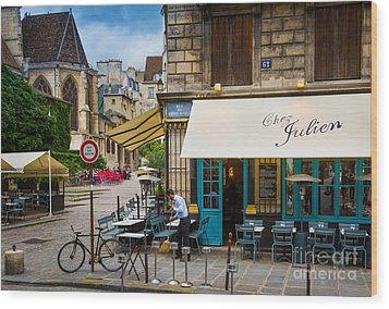 Chez Julien Wood Print by Inge Johnsson