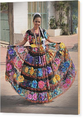 Chiapaneca Dress Wood Print