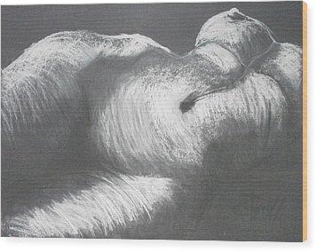 Chiaroscuro - Torso Wood Print by Carmen Tyrrell