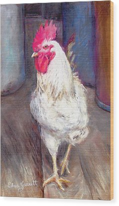 Chic Rooster Wood Print