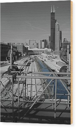 Chicago Amtrak Wood Print