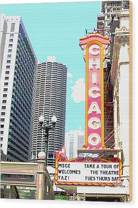 Chicago Wood Print by Audrey Venute