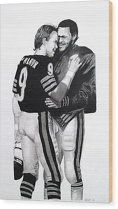 Chicago Bears Quarterbacks Wood Print by Vincent Wolff