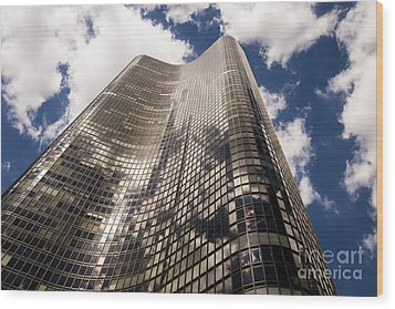Wood Print featuring the photograph Chicago Building by Zawhaus Photography