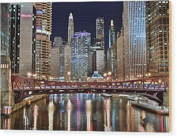 Chicago Full City View Wood Print