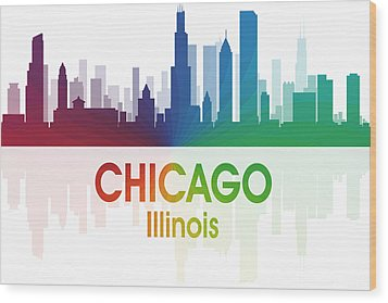 Chicago Il Wood Print by Angelina Vick