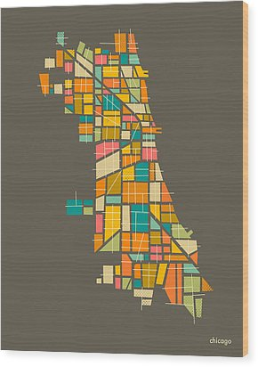 Chicago Wood Print by Jazzberry Blue