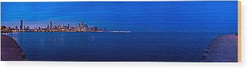 Chicago Lakefront Ultra Wide Hd Wood Print by Steve Gadomski