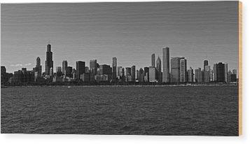 Chicago Lakeshore Skyline Wood Print by Miranda  Miranda