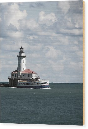 Chicago Lighthouse Wood Print by Joanne Coyle