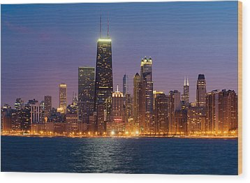 Chicago Panorama Wood Print by Donald Schwartz