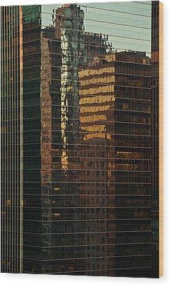 Chicago Reflected Wood Print by Steve Gadomski