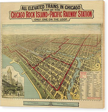 Chicago Rock Island And Pacific Railway Station Wood Print by Donna Leach
