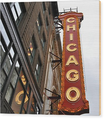 Wood Print featuring the photograph Chicago by Sheryl Thomas