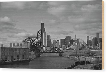 Chicago Skyline 2 Wood Print by Sheryl Thomas