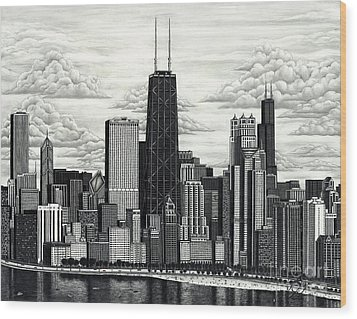 I Love Chicago Volume 1 Wood Print