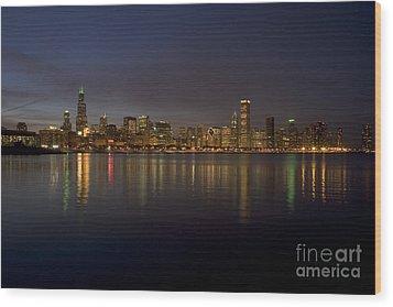 Chicago Skyline  Wood Print by Timothy Johnson