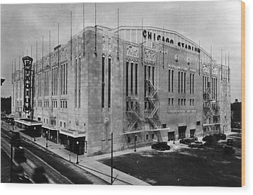 Chicago Stadium, Chicago, Illinois Wood Print by Everett