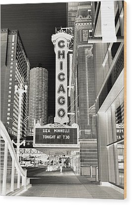 Chicago Theater - 2 Wood Print by Ely Arsha