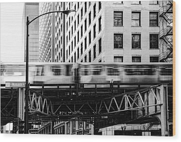 Chicago Transit Wood Print