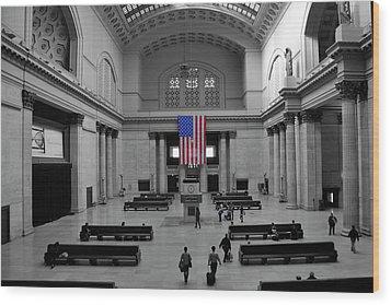 Chicago Union Station Wood Print by Sheryl Thomas