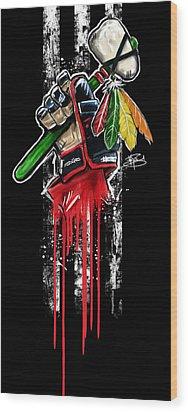Warrior Glove Origins Wood Print by Michael Figueroa