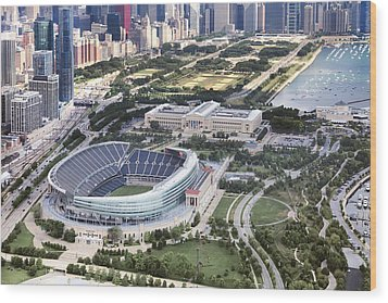 Chicago's Soldier Field Wood Print