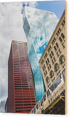 Chicago's South Wabash Avenue  Wood Print by Semmick Photo