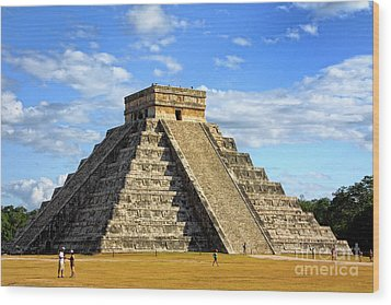 Chichen Itza Pyramid Wood Print by Charline Xia
