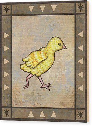 Chick Four Wood Print by Linda Mears