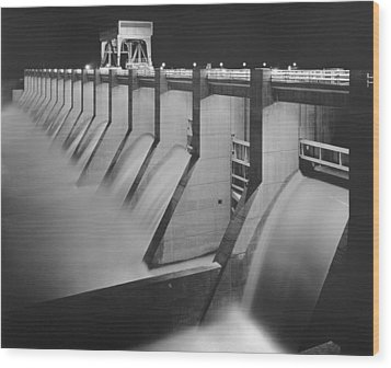 Chickamauga Dam, Built By The Tennessee Wood Print by Everett